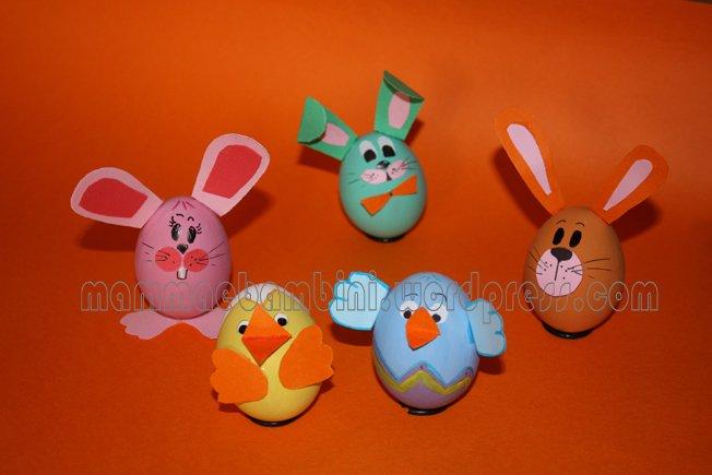 Uova decorate mamma e bambini - Uova decorate per bambini ...