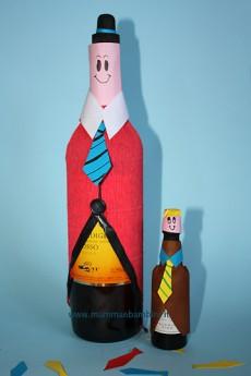 Lavoretti per Festa del papà: bottiglie