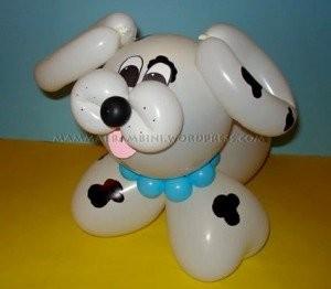 Palloncini per far festa cagnolino
