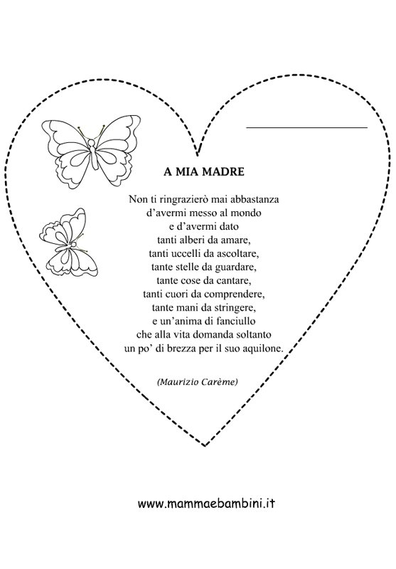 Poesia A mia madre