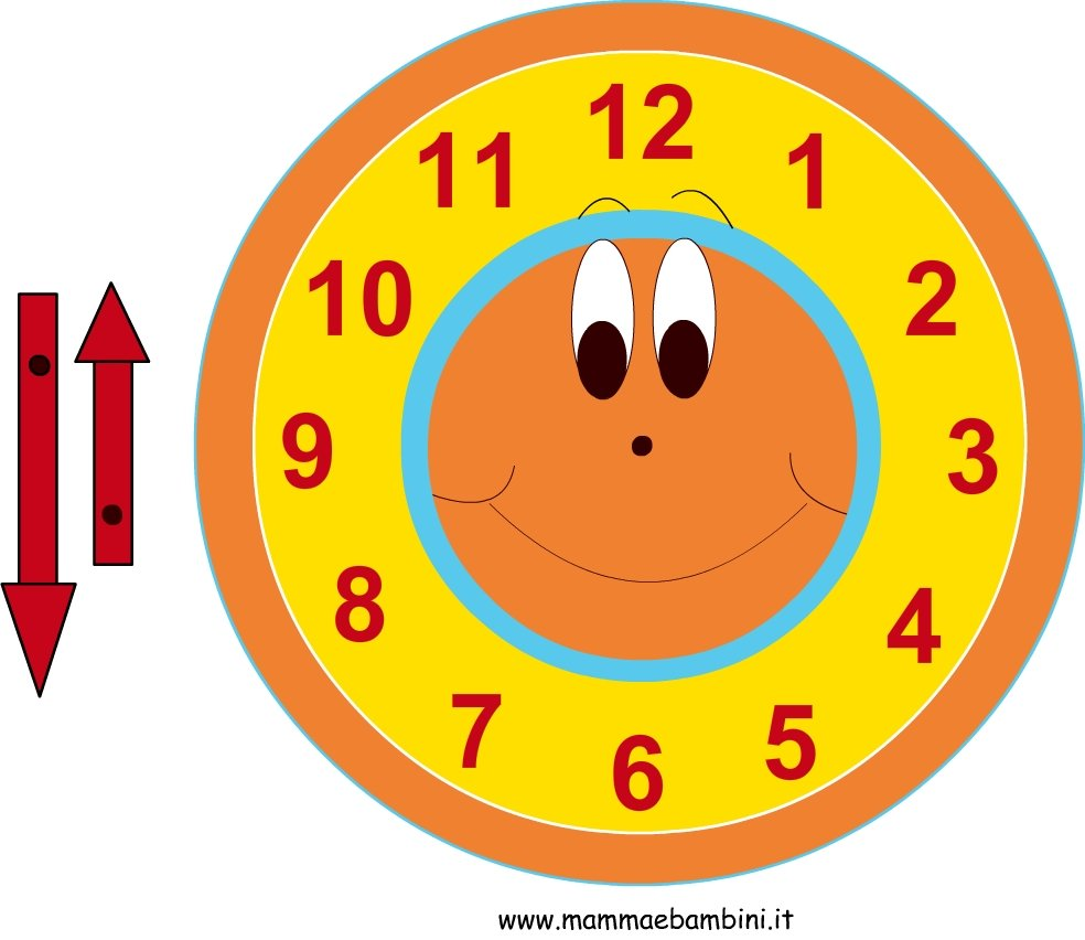 Come realizzare un orologio mamma e bambini for Orologio fai da te