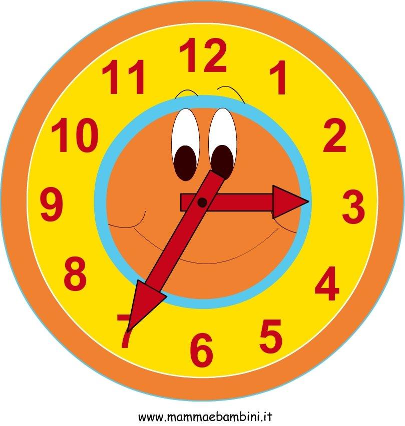 orologio di cartone