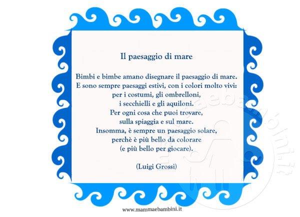 Poesia il paesaggio di mare mamma e bambini - Immagini di aquiloni per colorare ...