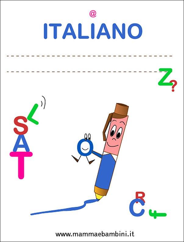 Copertine quadernoni per la scuola: italiano