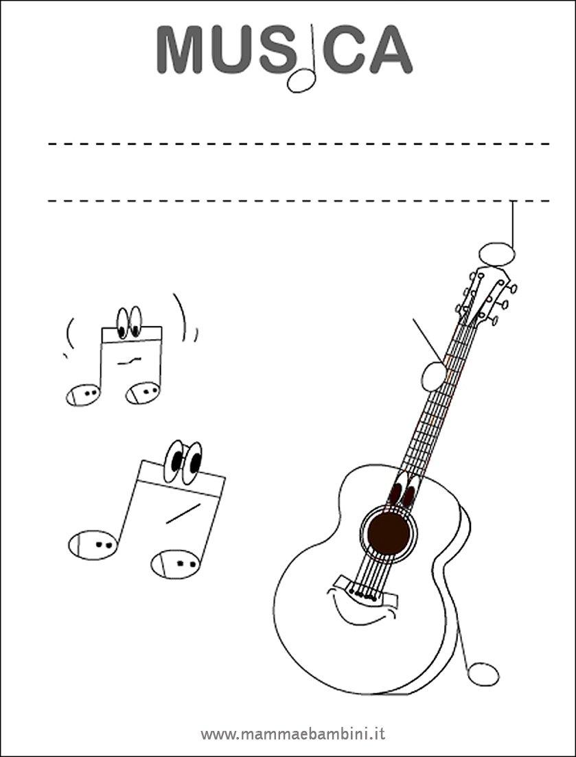Copertina quaderno di musica mamma e bambini - Note musicali da colorare pagina da colorare ...