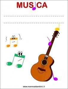 Copertina quaderno di musica