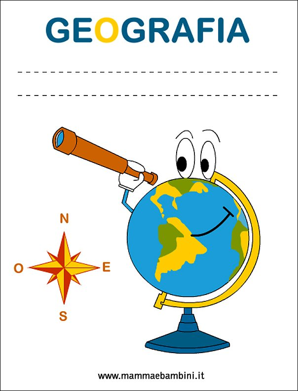 Copertine Quadernoni Per La Scuola Geografia Mamma E Bambini