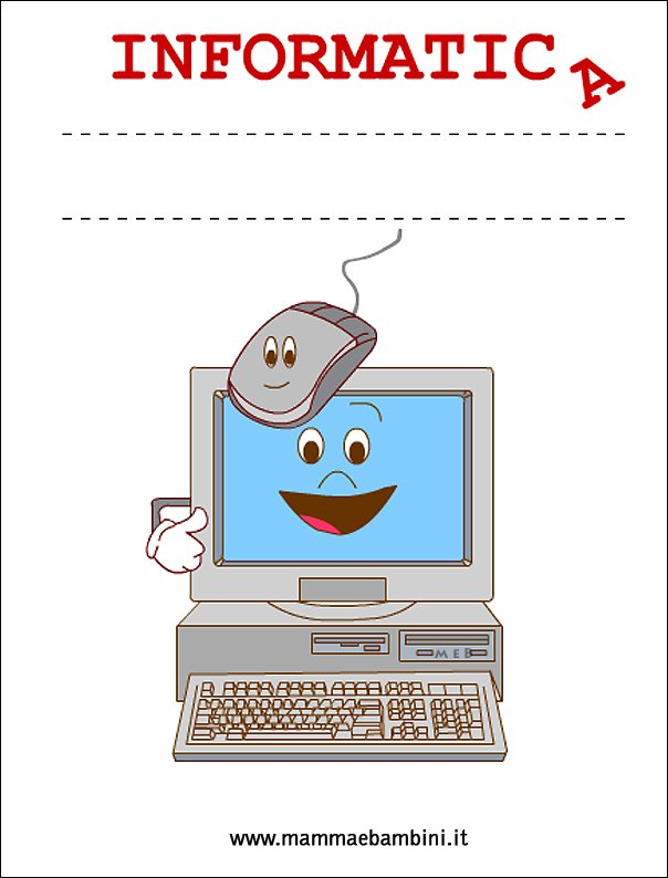 Copertina quaderno per Informatica
