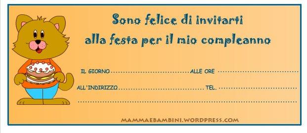 Biglietto Invito Compleanno Orso Con Torta Mamma E Bambini