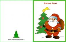 Biglietto Auguri con Babbo Natale