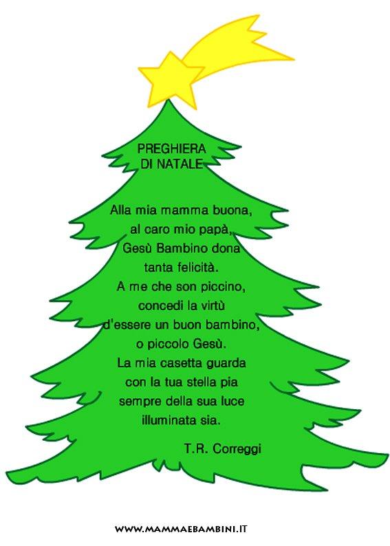 """Conosciuto Poesia Natale con cornice """"Preghiera di Natale"""" - Mamma e Bambini QZ93"""