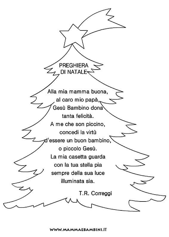 """poesia natale con cornice """"preghiera di natale"""" – mamma e bambini"""