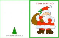 Biglietti auguri Natale con Babbo Natale
