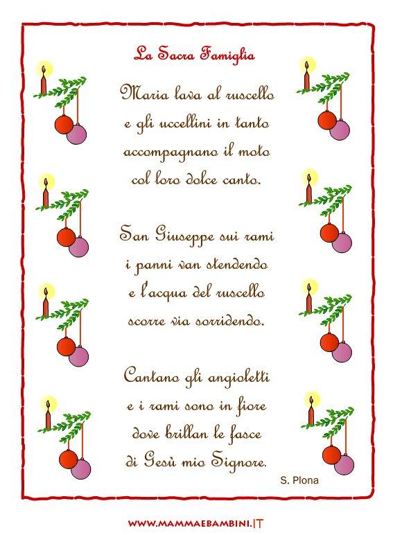 Favoloso Tante poesie di Natale da stampare con cornice - Mamma e Bambini WL37