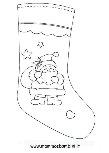 Disegni sulle calze per la festa della befana mamma e for Befana disegno da colorare