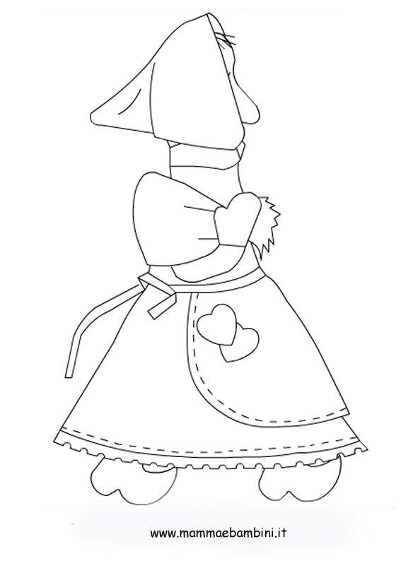 Disegni sulla befana con sacco mamma e bambini for Befana disegno da colorare