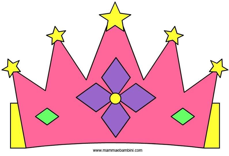 corone modello re e regina mamma e bambini