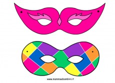 Carnevale: maschere da ritagliare