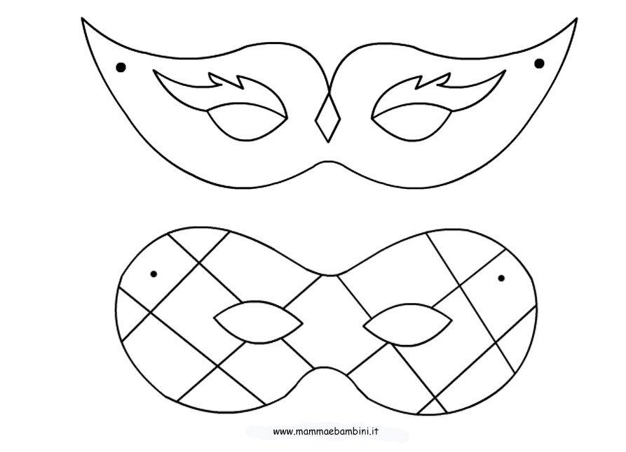 Abbigliamento di moda i vostri sogni maschere di for Immagini maschere carnevale da colorare