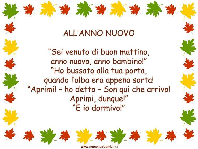 """Poesia in cornice """"All'anno Nuovo"""""""