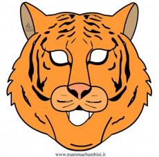 Carnevale: maschera tigre da stampare