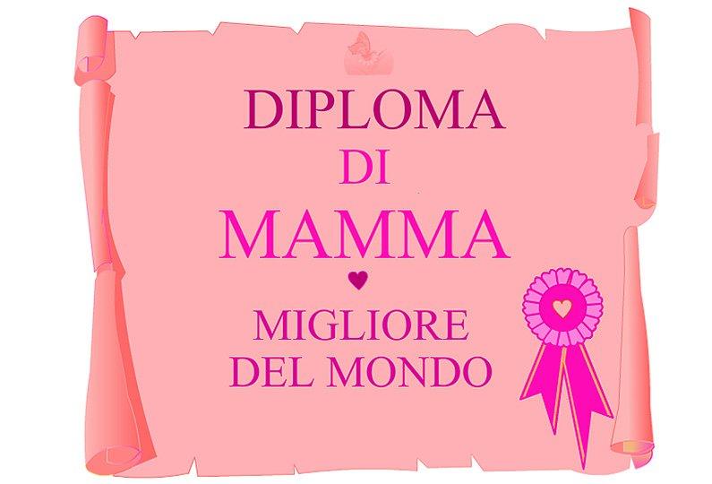 Festa della mamma: un bel diploma per lei