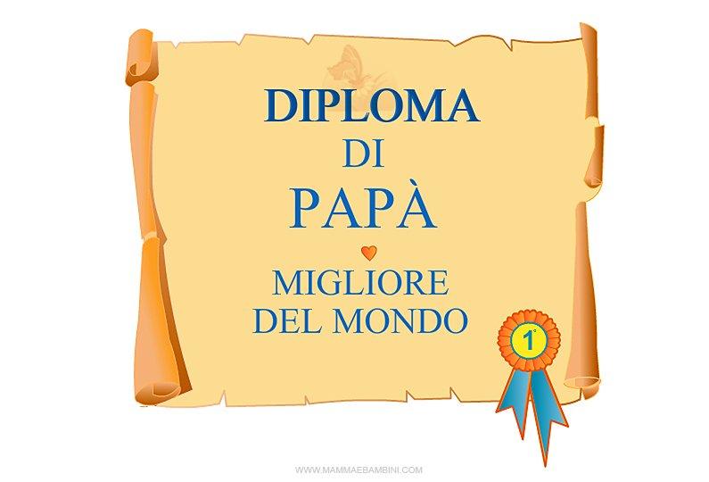 Diploma di pap migliore del mondo mamma e bambini - La finestra del mondo poesia ...