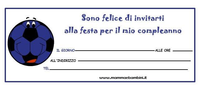 """Biglietti inviti festa """"pallone"""" con i colori dell' Inter"""
