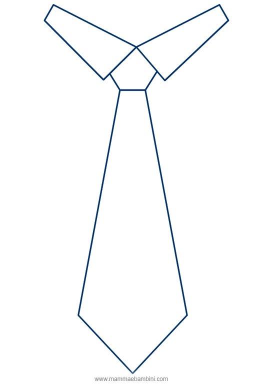 Disegno Cravatta Da Colorare Mamma E Bambini
