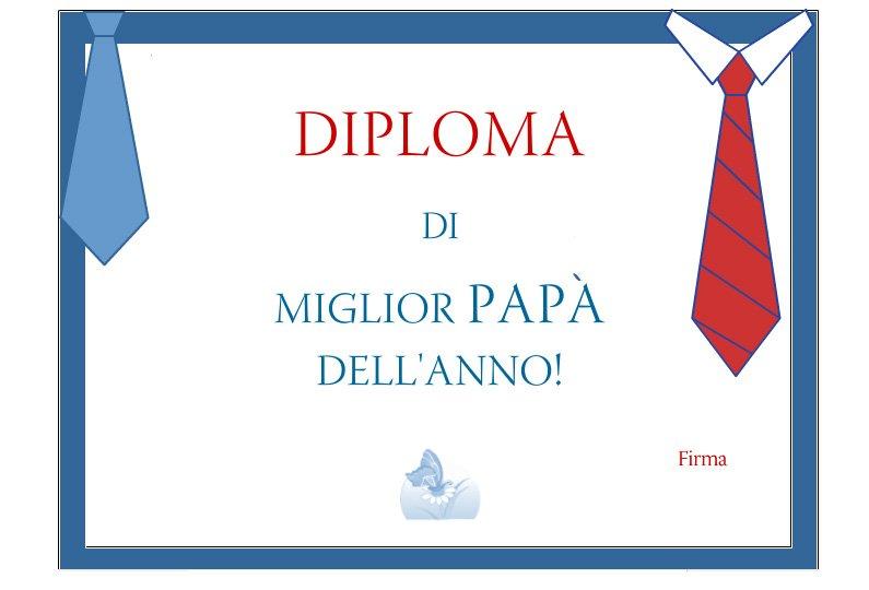 Festa del pap un bel diploma per lui mamma e bambini - La finestra del mondo poesia ...