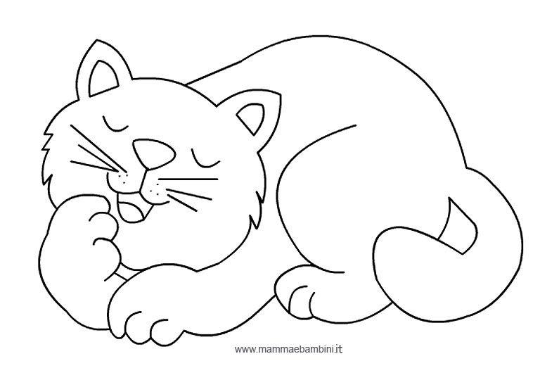 Eccezionale Disegni da colorare sui gatti - Mamma e Bambini WV94