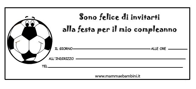 Biglietti inviti compleanno con pallone Juventus