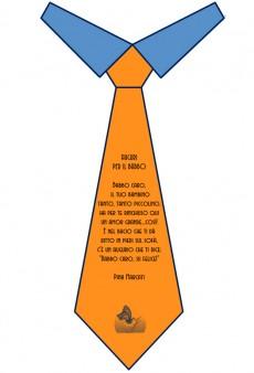 """Poesie sul papà """"Auguri per il babbo"""" con cravatta"""