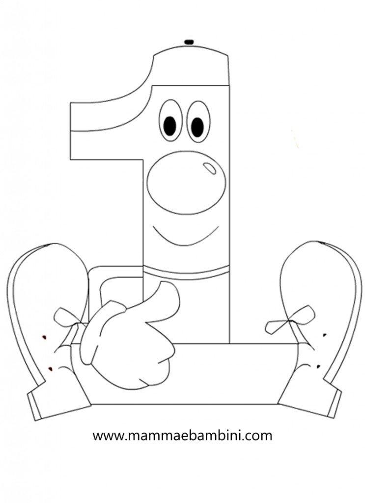 Numeri da stampare e colorare 1 mamma e bambini - Numeri per tavoli da stampare ...