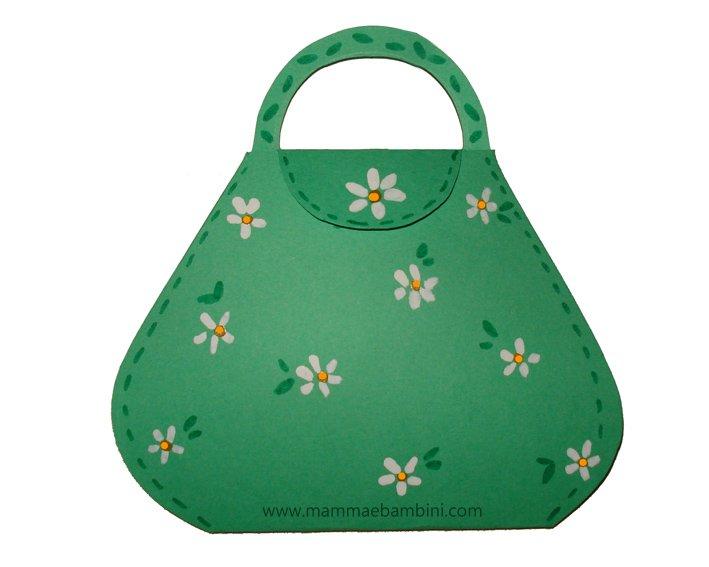 Lavoretti per Festa della mamma: borsa verde