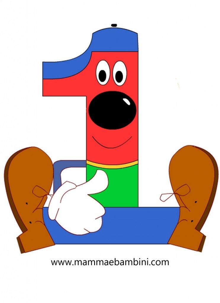 Numeri da stampare e colorare 1 mamma e bambini - Colore per numeri per i bambini ...