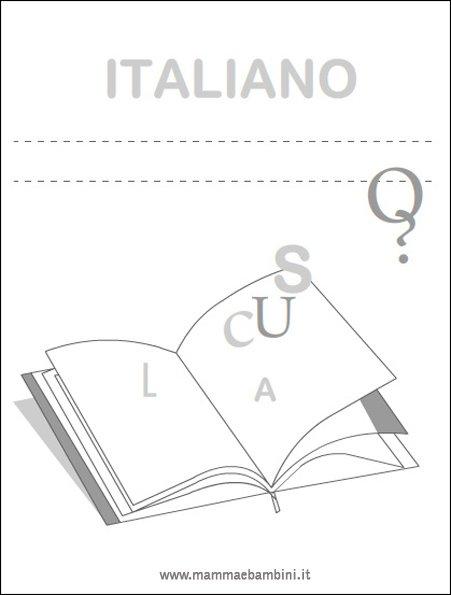 abbastanza Copertina italiano per quaderni (new) - Mamma e Bambini OW84