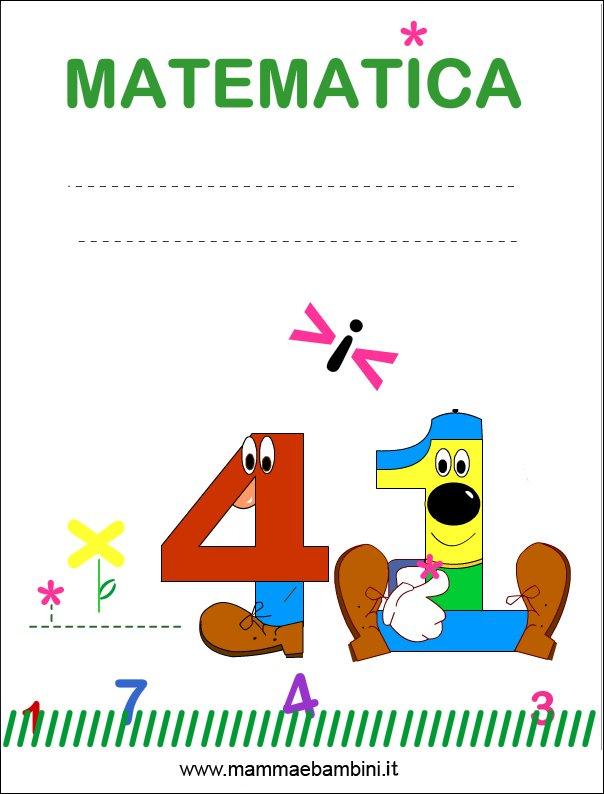 copertina matematica per quaderni (new) – mamma e bambini
