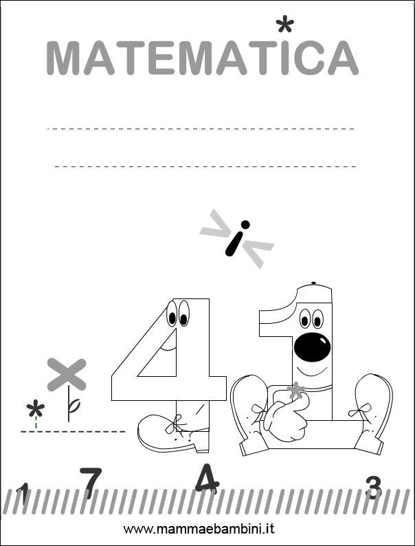 Eccezionale Copertina matematica per quaderni (new) - Mamma e Bambini NL29