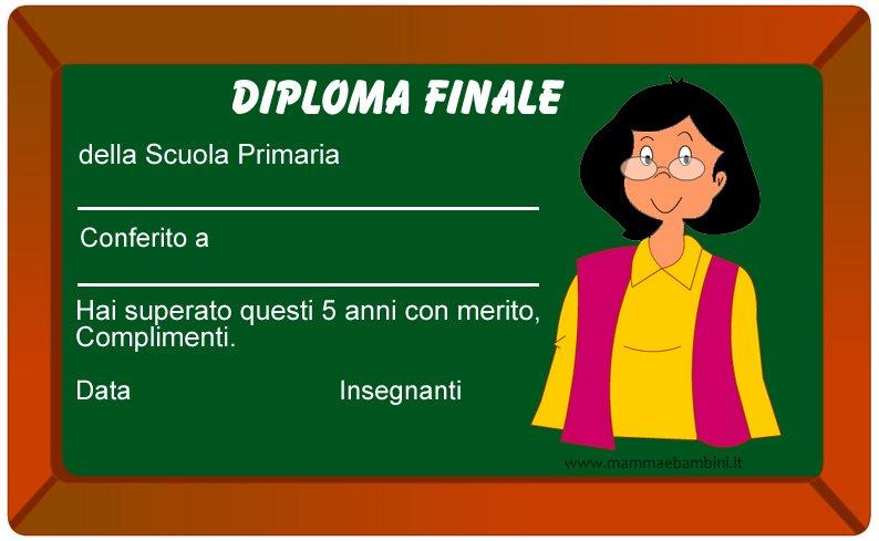 Diploma finale della scuola primaria