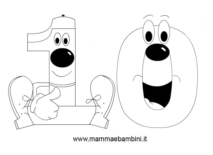 Famoso Numeri da stampare e colorare: il 10 - Mamma e Bambini MQ99