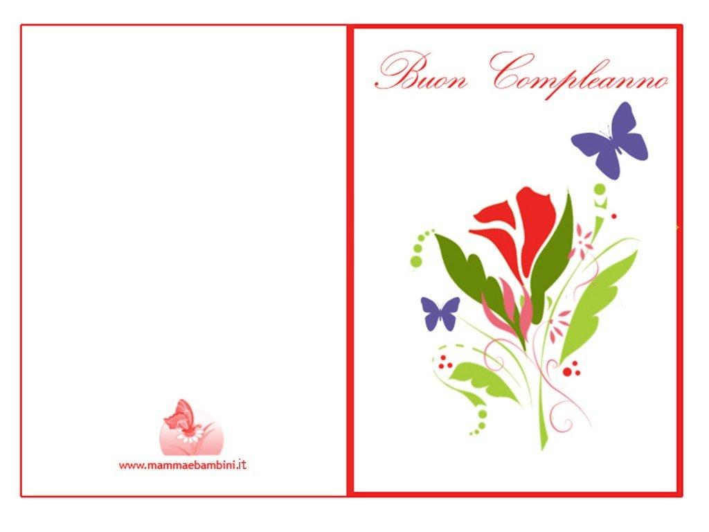 Biglietti auguri compleanno da stampare con fiori mamma - Stampabili per bambini gratis ...
