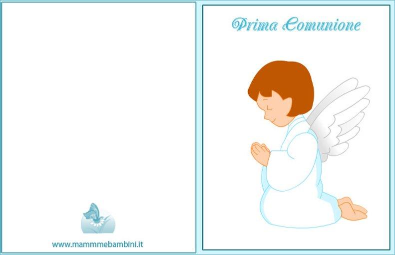 abbastanza Biglietto auguri Prima Comunione (n.2) - Mamma e Bambini DI02