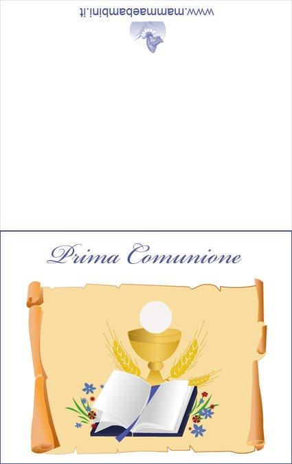 Fabuleux Biglietti Prima Comunione da stampare - Mamma e Bambini YE38