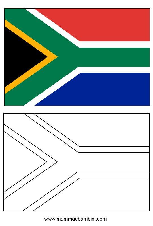 Le Bandiere Da Colorare E Stampare Sudafrica E Inghilterra Mamma