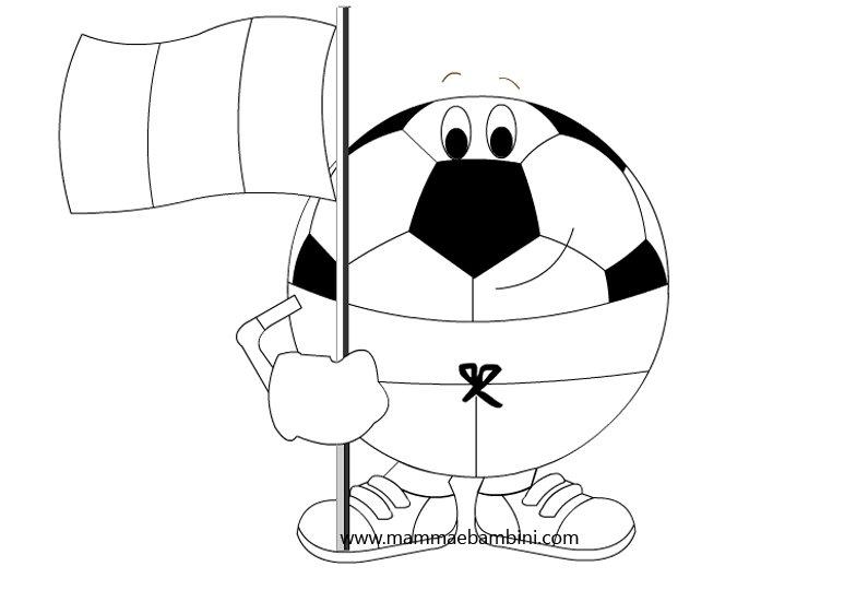 Disegni Da Colorare Pallone Da Calcio Mamma E Bambini