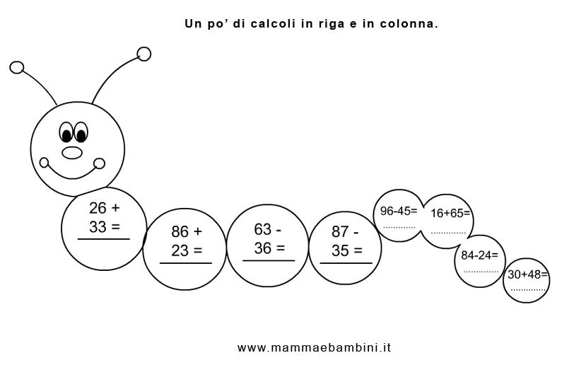 Amato Matematica: operazioni in riga e in colonna - Mamma e Bambini RP55