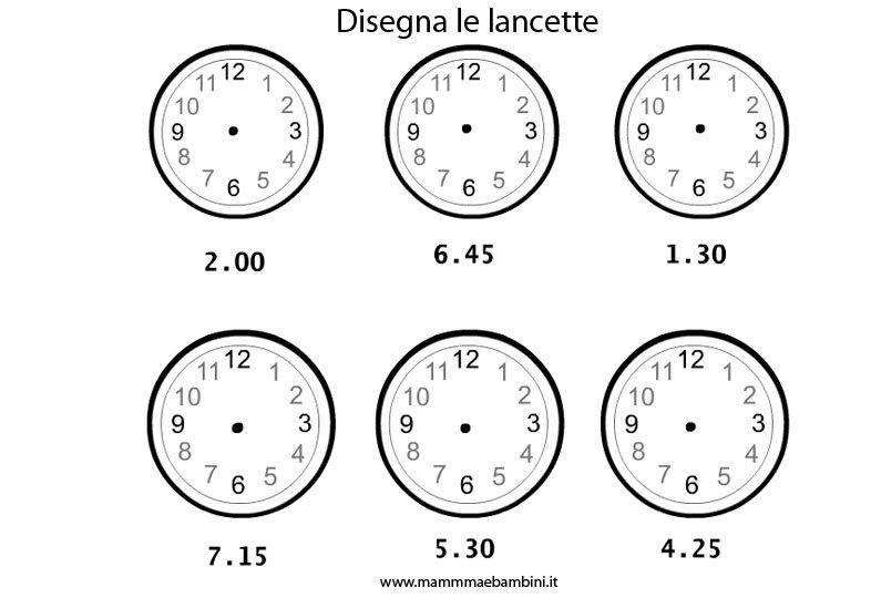 Molto L'orologio, imparare a leggere le lancette - Mamma e Bambini AG38