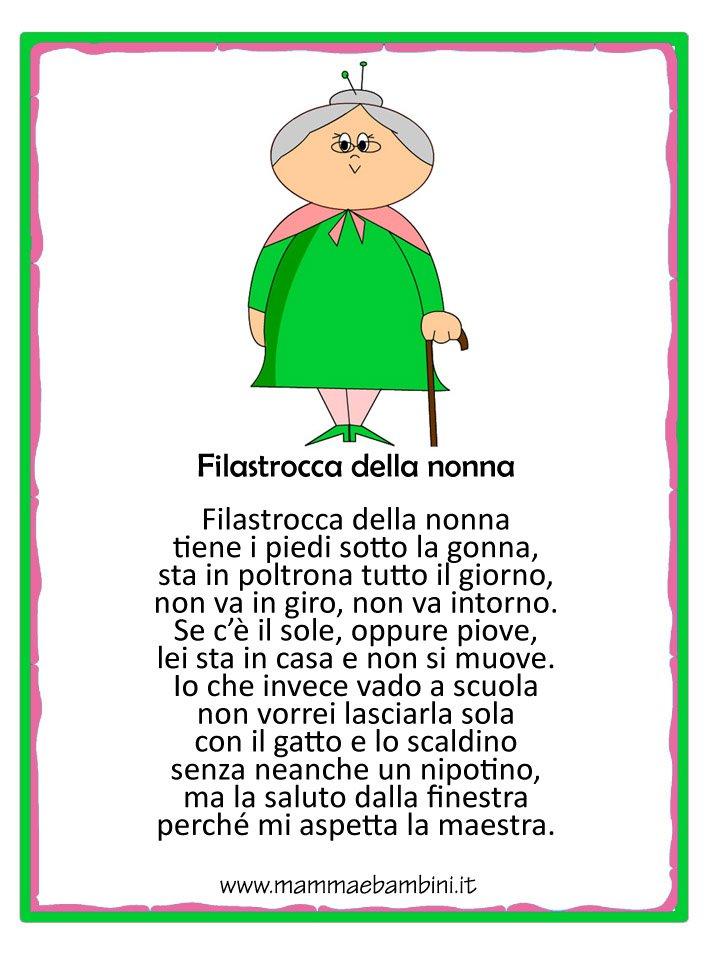 Amato Filastrocca sulla nonna con disegno - Mamma e Bambini IY98