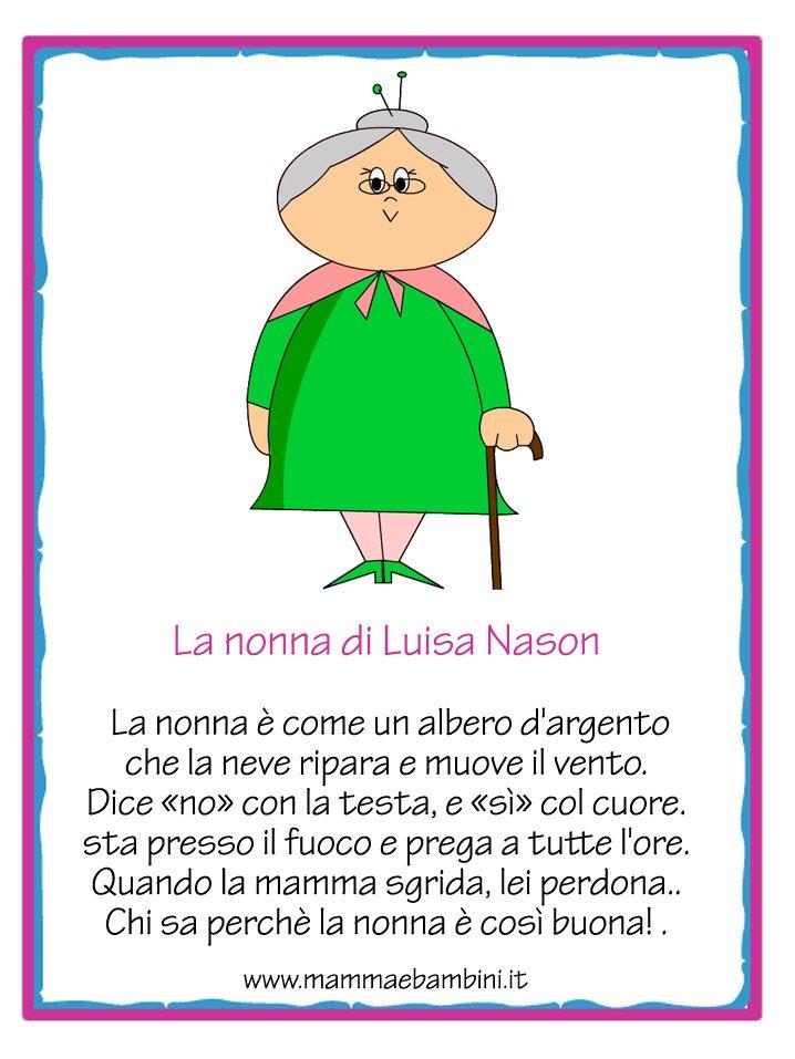 """Très Poesia sulla nonna con cornice """"La nonna"""" - Mamma e Bambini NA13"""